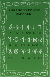 The Carnutian Nemeton Lugano/Lepontic Alphabet Sheet